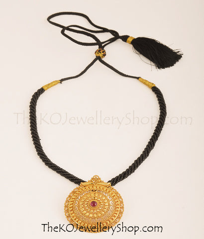 Gold dipped South Indian antique temple jewellery