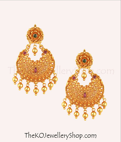 Gold dipped earrings Sterling silver chand bali shop online