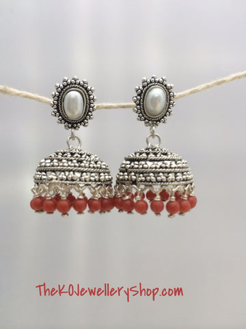 The Vinisha Silver Jhumka