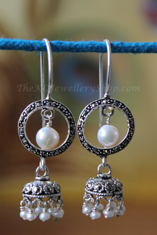 new collection silver jhumka for women shop online