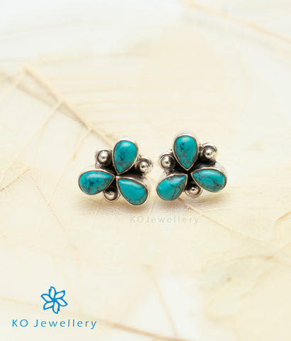 The Anish Silver Gemstone Earrings (Turquoise)