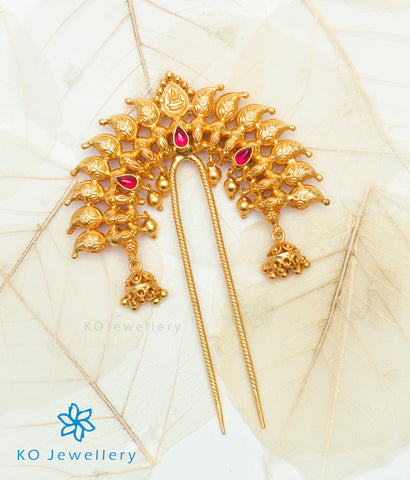 The Madhurya Silver Bridal Hair Pin