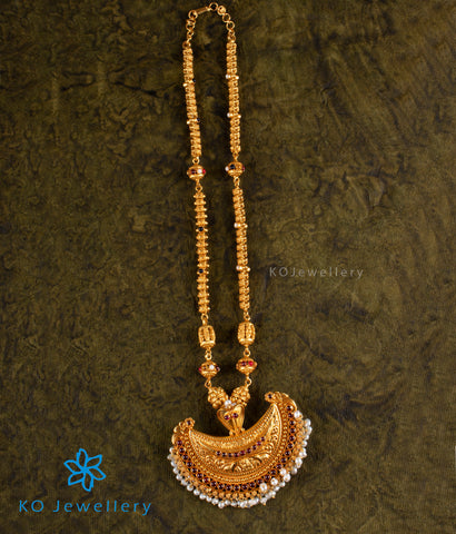 The Bhavya Navaratna Kokkethathi Silver Necklace