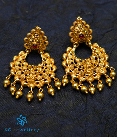 The Damya Silver Chand Bali Earrings