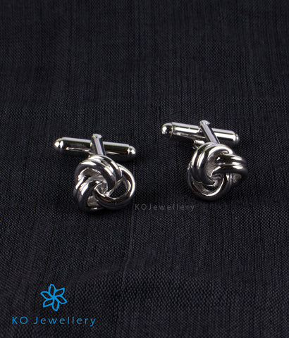 The Knot Silver Cuff Links
