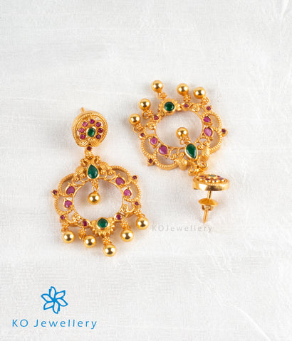 The Nritya Silver Peacock Earrings