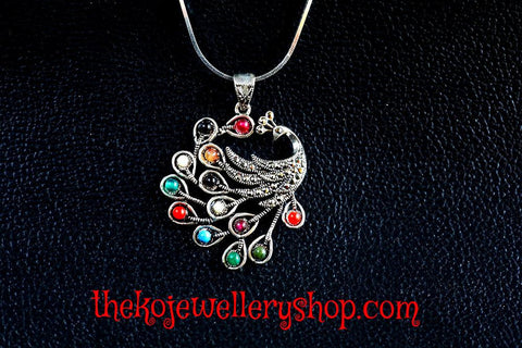 Eye catching peacock pure silver buy online