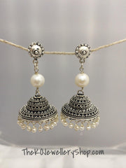 Shop online indian ethnic sterling silver jhumka for women