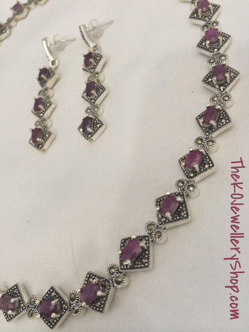 bridal collection ruby jewelery casual wear pure silver