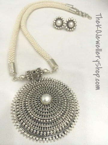 Hand woven pure silver necklace shop online