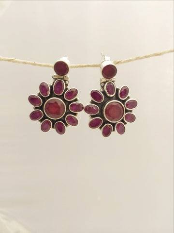 ruby silver sterling 92.5 office wear earrings