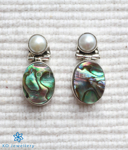 Silver and abalone real gemstone jewellery