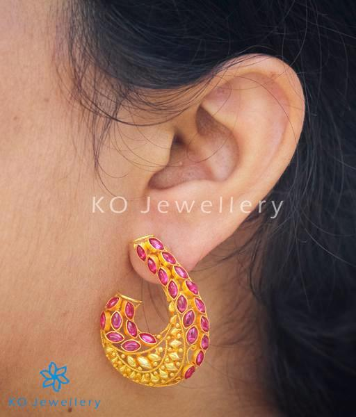 Handcrafted antique temple jewellery earrings collection