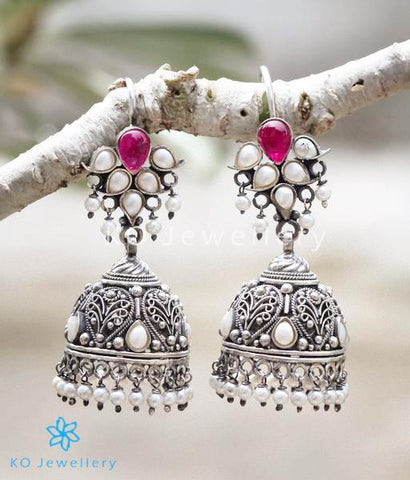 Handcrafted jhumkas celebrating traditional South Indian temple jewellery