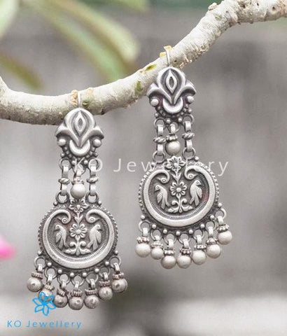 The Suka Silver Parrot Earrings