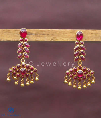 Fiery red temple jewellery earrings online