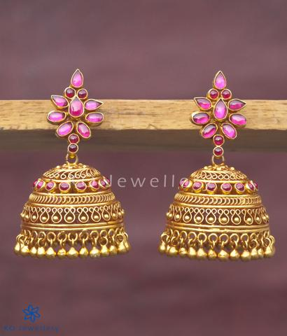 Buy stunning temple jewellery jhumkas online India