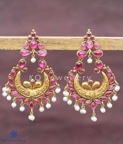 The Madhura Silver Chand-Bali Earrings