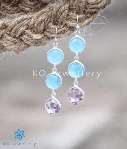 The Ambara Silver Chalcedony Gemstone Earrings