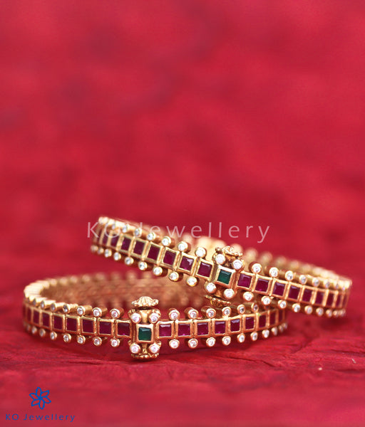 Bangles and Kadas: Gold Plated Antique Silver Jewellery