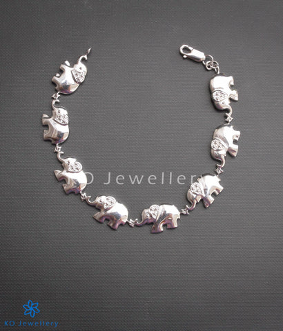 contemporary work wear tusker elephant bracelet