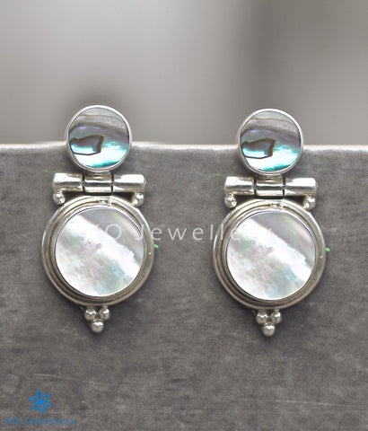 Dual colour mother of pearl abalone office wear earrings