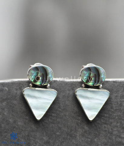 925 silver mother of pearl abalone office wear earrings