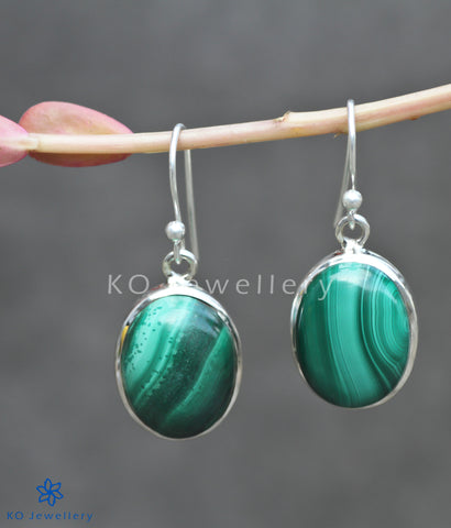 Buy stunning malachite and silver office wear earrings