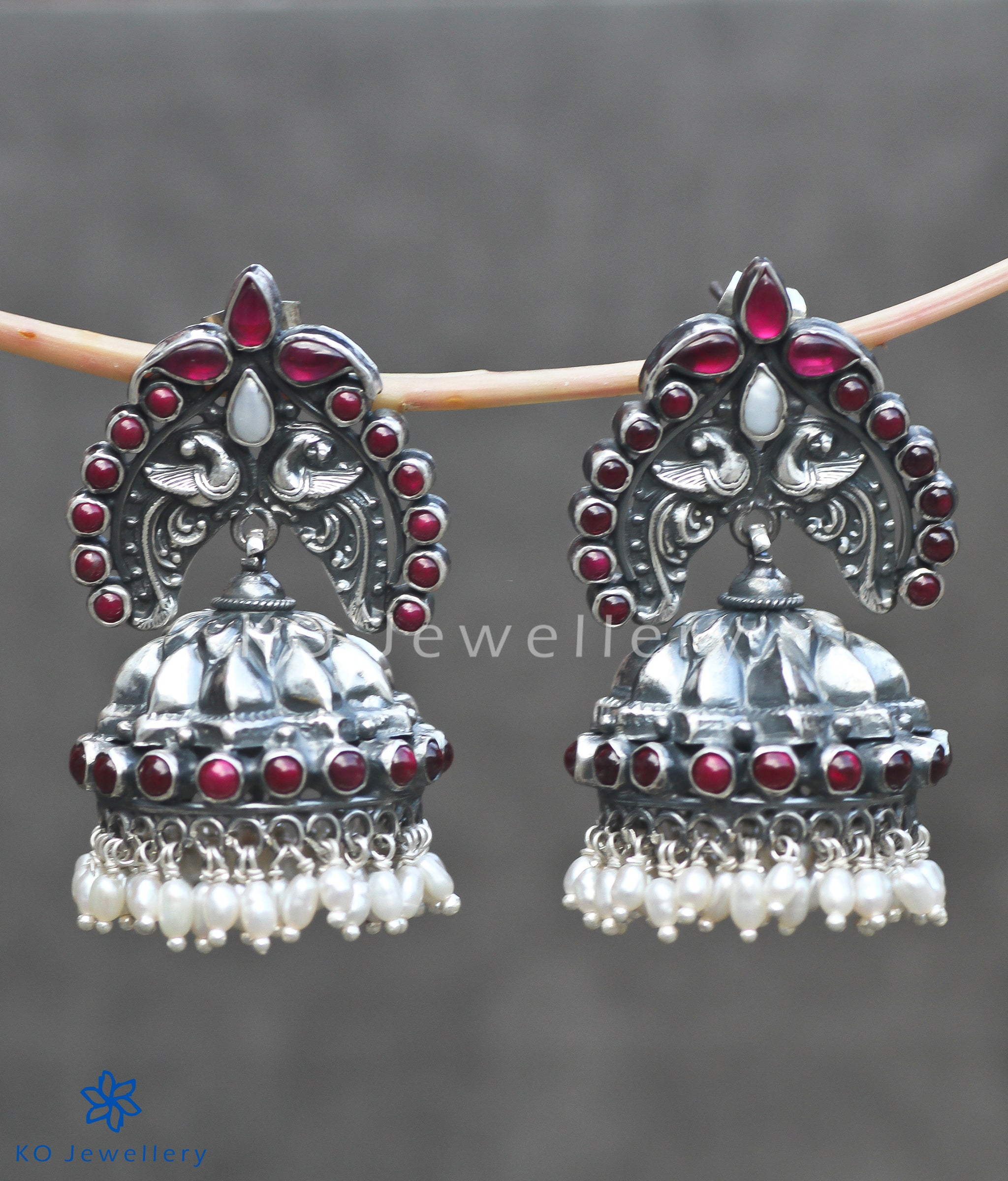 53f9c20d9 Ancient South Indian temple jewellery jhumkas · Oxidised silver ...