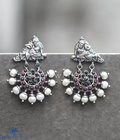 The Nrita Antique Silver Earrings (Oxidised)
