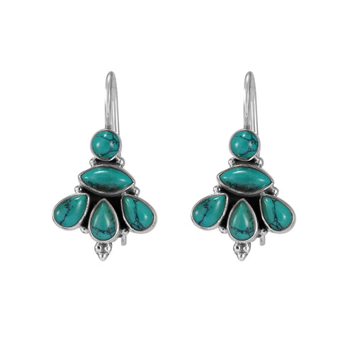 The Samar Silver Gemstone Earrings (Turquoise)