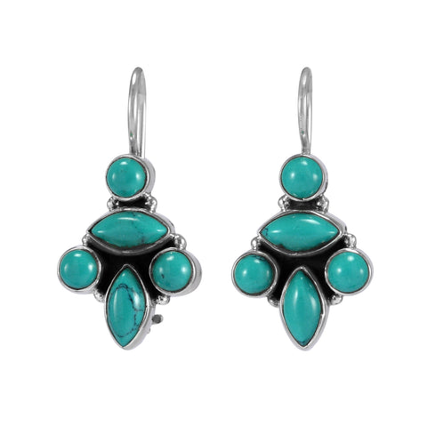 The Asma Silver Gemstone Earrings (Turquoise)