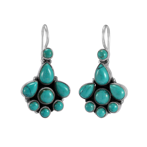 The Samay Silver Gemstone Earrings (Turquoise)