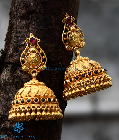 The Pushti  Silver Coin Jhumka