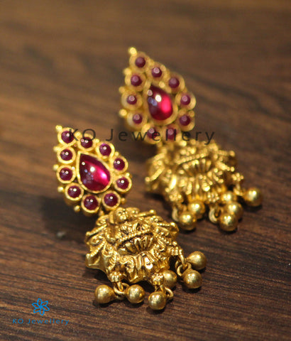 The Padmahasta Silver Lakshmi Earrings