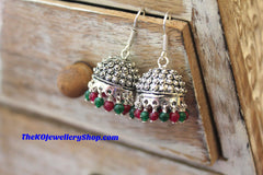 KO sterling silver jhumka for women
