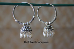 Online shopping pure silver bali earrings for women