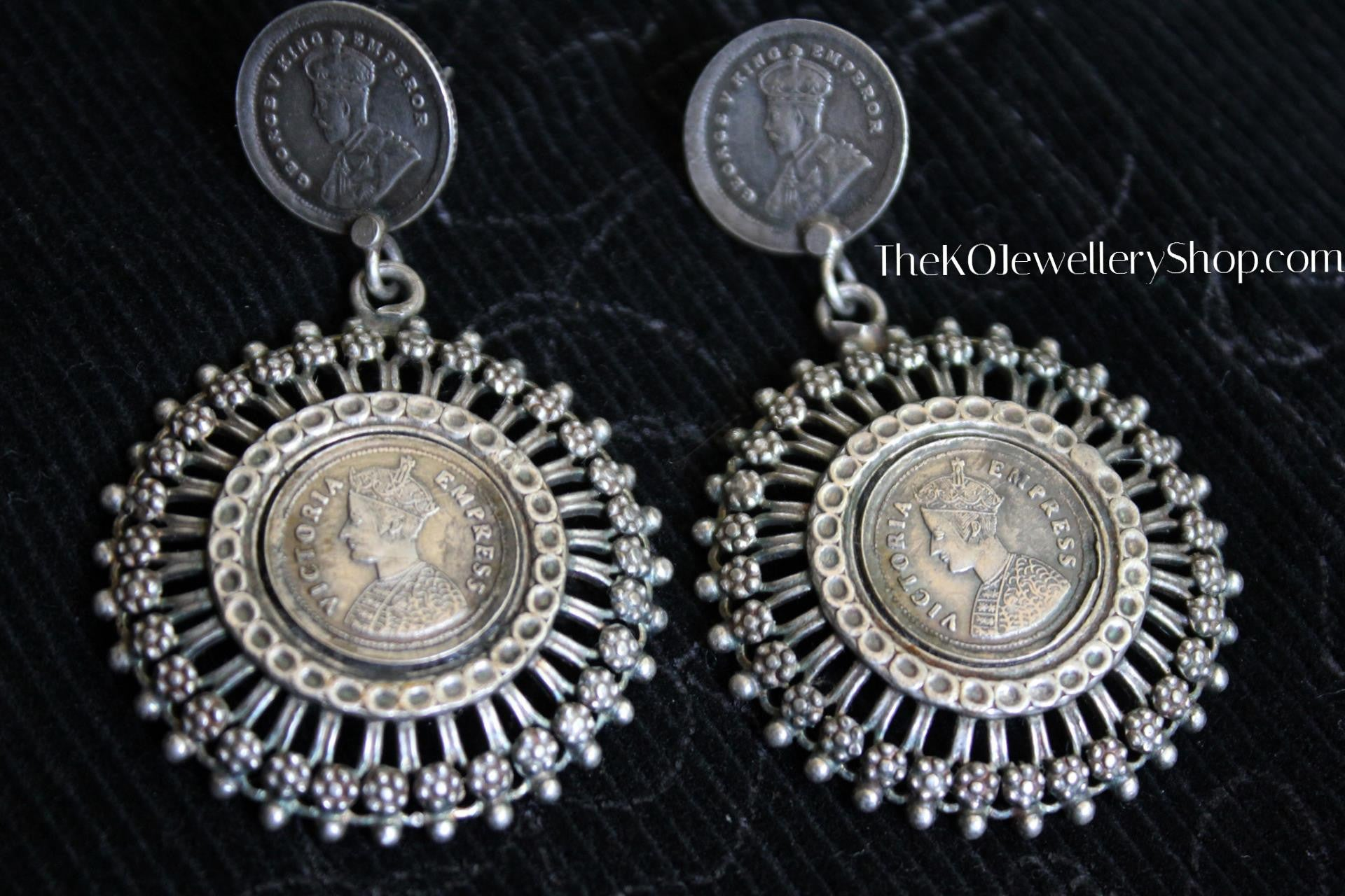 earrings en antique silver style edizione white ultima