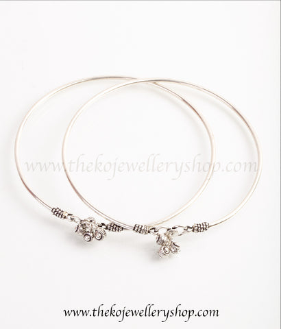 pure silver traditional anklets for women buy online