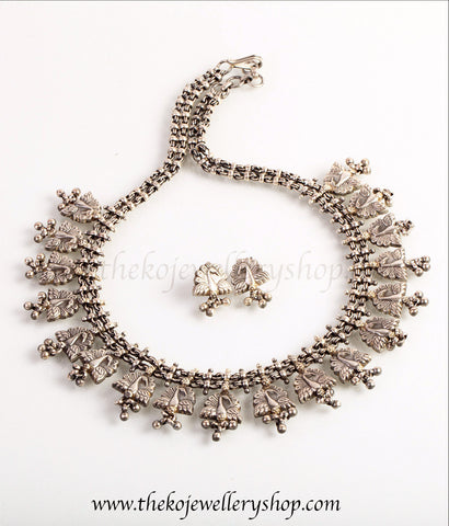 charming peacock-motif sterling silver necklace for women