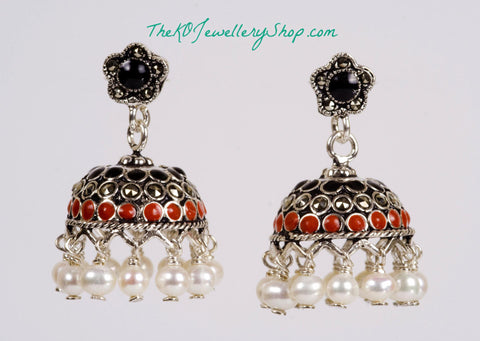 The Bindiya Silver Jhumka