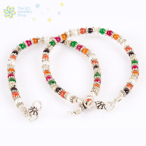 Multi-Colour kids anklets Gemstone Online India