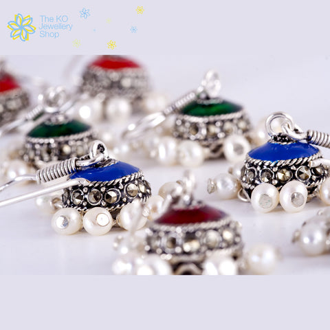 The Inika Silver Jhumka - KO Jewellery