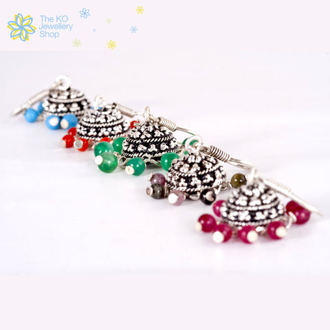 multi colored jhumka  light weight small