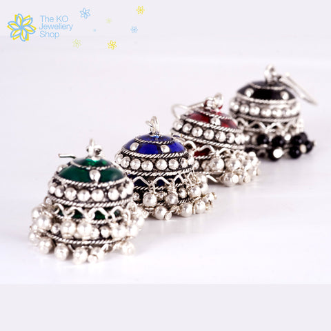 The Chameli Silver Jhumka - KO Jewellery