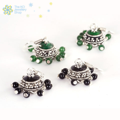 The Bhadra Silver Jhumka - KO Jewellery
