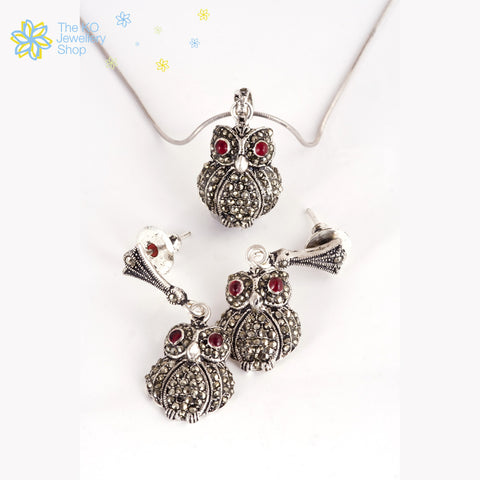 The Owl Pendant Set - KO Jewellery