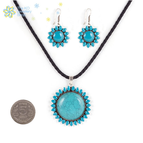 The Sunflower Pendant Set - KO Jewellery
