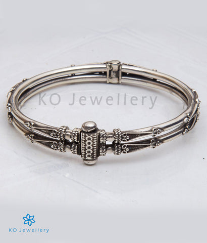 The Hardik Silver Bracelet(two line)
