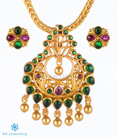 The Hridya Silver Pendant (Green)